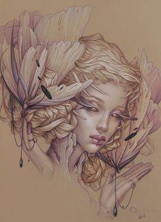 drawings byjennifer healyakamy beautiful burden... | art for adults