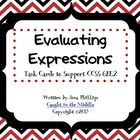 This download contains a set of 20 colored and 20 black and white task cards to support CCSS 6.EE.2. The questions require students to evaluate by ...