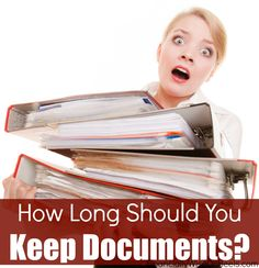 If you happen to have lots of documents in your kitchen, cabinets, bedroom and basically everywhere, then now is the right time to go over your documents again. But how long should you keep documents, and which ones should be shredded? This list will help you out!  http://www.financiallywiseonheels.com/how-long-should-you-keep-documents/ #documents #organizing
