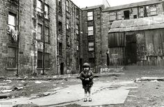 Social History Housing pic 1974 A scene in the Gorbals area of Glasgow Scotland showing the slums...