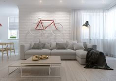 Creative Scandinavian living room design                                                                                                                                                                                 More