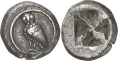Las primeras monedas de Atenas, las Wappenmünzen. #monedas