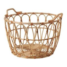 IKEA SNIDAD Basket Rattan 54 x 39 cm This braided basket has a unique look since each basket is handmade.