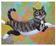 "This wooden cat art board is a beautiful piece of work that is based off of a real animal. See her fly in any room. Size: 8.00"" W x 11.00"" L x 2.00"" D"