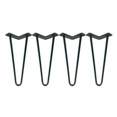 """1/2"""" HEAVY DUTY - USA Made Hairpin Legs Set of 4 - Raw Uncoated Steel, Hairpin Table Legs, Metal Table Leg, Mid Century Modern, Coffee Table"""