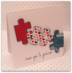 Handmade Valentines Card for Him #Valentines #Love