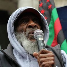 Dick Gregory rally for Trayvon Martin