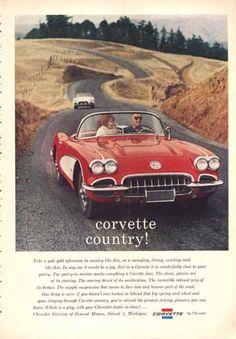 1960 C1 Chevy Corvette Coupe Ad Corvette Countryside