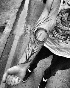 forearm tree branch tattoo