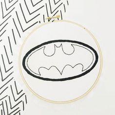 Batman hand embroidery