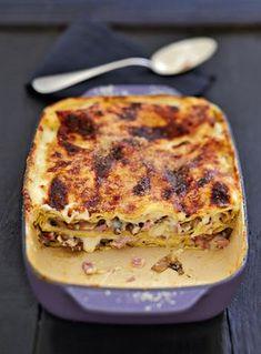 Lasagnes de champignons au jambon Healthy Eating Tips, Healthy Nutrition, Healthy Drinks, Summer Recipes, New Recipes, Vegetable Drinks, Mushroom Recipes, Mediterranean Recipes, How To Cook Pasta