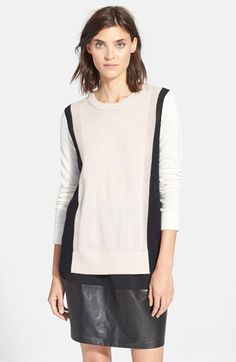 Vince Colorblock Crewneck Sweater available at #Nordstrom