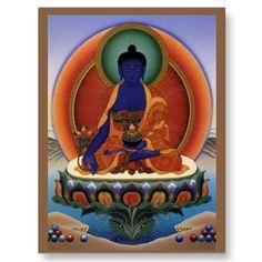 8 Medicine Buddha Postcards heading to Germany, danke schon