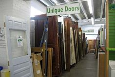 Green building material old used doors