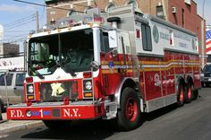 FDNY Fire Dept, Fire Department, American Firefighter, Police, Automobile, Ford, Fire Equipment, Rescue Vehicles, Mack Trucks