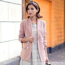 Áo Vest nữ 2 hàng cúc dài tay, màu sắc pastel, phong cách trẻ trung