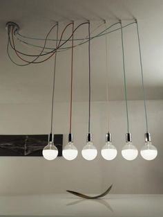 Pretty Photo of Bulb Chandelier Industrial Modern - Interior Design Ideas & Home Decorating Inspiration - moercar Interior Lighting, Home Lighting, Lighting Design, Edison Lighting, Room Lights, Hanging Lights, Deco Luminaire, Modern Pendant Light, Chandelier Pendant Lights