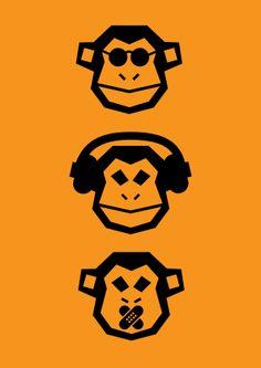 Need a custom logo design service from expert logo makers? Logo Dezine is a graphic design company that offers affordable and cheap logo design services. Graphic Design Company, Logo Design, Three Wise Monkeys, Monkey Art, Skateboard Design, Dope Art, Pop Art Wallpaper, Animal Logo, Mellow Yellow