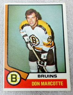 NHL OPC 1974-75 DON MARCOTTE  HOCKEY CARD! Boston #Bruins EX - N/M. #BostonBruins
