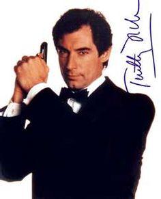 Timothy Dalton Autograph Photo - James Bond