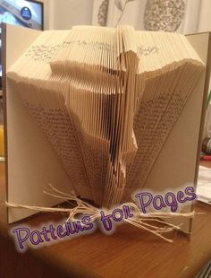 Book folding pattern for a BALLERINA by PatternsForPages on Etsy, £5.00