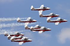 Candian Forces 'Snowbirds' Air Demonstration Team at the Great Lakes International Air Show, June 2011
