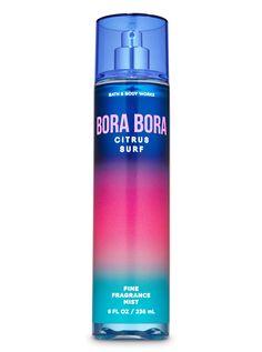 Bora Bora Citrus Surf Fine Fragrance Mist - Bath And Body Works Bath N Body, Bath Body Works, Bath And Body Works Perfume, Lip Scrub Homemade, Homemade Facials, Wallpaper Aesthetic, Bath And Bodyworks, Body Soap, Fragrance Mist