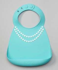 Look at this Blue Pearls Silicone Bib on #zulily today!