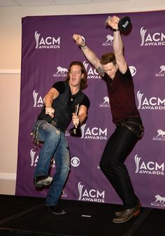 Tyler Hubbard Florida Georgia Line | Musicians Tyler Hubbard (L) and Brian Kelley of Florida Georgia Line ...