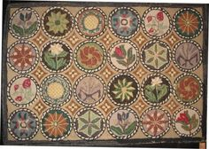 Antique Hooked Rugs Amazing antique hooked rugs Compass And Floral Medallions Antique Hooked Rug
