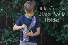 Little Camper Water bottle holder - tutorial by Melly Sews