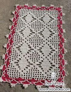 Tapete Simples De Croche Com Grafico Tapete De Croche Simples