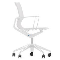 Vitra - Physix Bürodrehstuhl, silber / soft grey, harte Rollen für Teppichböden Silber T:55 H:100 B:63