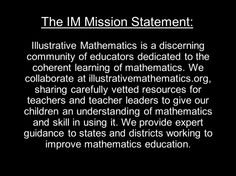 Introduction to Illustrative Mathematics