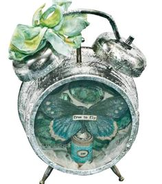 Make this adorable #DIY alarm clock from @Tim Holtz!