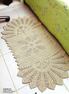 Carpet In Crochet . Free Knit Shawl Patterns, Crochet Doily Patterns, Crochet Blocks, Crochet Doilies, Crochet Flowers, Rope Rug, Crochet Carpet, Rugs And Mats, Hallway Carpet Runners