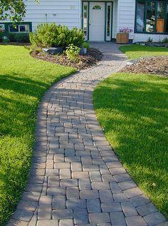 stone walkways | Paving Stone Walkways- Stone Taffy Design