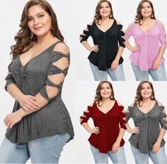 Trustful Kenancy Women Plus Size Cold Shoulder Blouse Lattice Lace Sleeve Hollow Out O-neck Patchwork Sexy Shirt Casual Autumn Top Blusas Blouses & Shirts