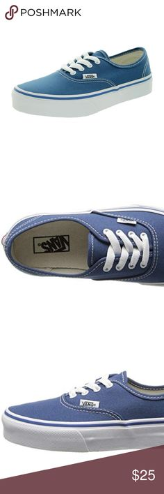 84b8c385b5 nib kids vans Authentic kids vans navy with true white size 11.5 Vans Shoes