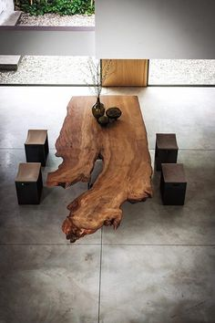 These modern dining tables are made to receive guests and make every family dinner extra special. Wood, metal, concrete - they will fit any interior. Table Furniture, Luxury Furniture, Dining Area Design, Luxury Dining Tables, Esstisch Design, Contemporary Dining Table, Into The Woods, Old Wood, Cedar Wood