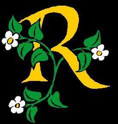letter r   letter-r-flowers « Matt Large