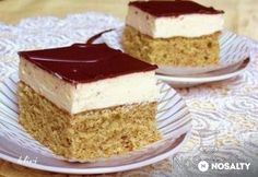 Jugoszláv krémes | NOSALTY Hungarian Cake, Hungarian Recipes, Smoothie Fruit, Ice Cream Recipes, Sweet Life, Vanilla Cake, Cheesecake, Good Food, Food And Drink