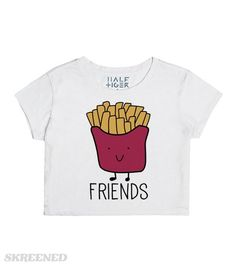 Best Friends Burgers and Fries | What goes together better than a burger and fries?! Uh, nothing! Except for you and your BFF, of course! These best friend shirts are for besties who love food...and each other! Get the matching crop top here: http://skreened.com/sparklepizza/best-friends-burger-and-fries #Skreened