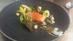 @shanecookechef - Confit salmon,wasabi,cucumber,apple July/Aug #FeedYourEyes