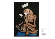Thinker - Raphael Federici le marin de Federici - Street art www.raphaelfederici.com - Instagram: @raphael_federici