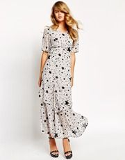 Sister Jane Galaxy Maxi Dress In Star Print
