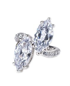 Twins Ring CZ by Kenneth Jay Lane #jewelry #ring