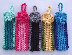 Crochet Keychains - Tutorial this site also has hair scrunchies and other small projects.