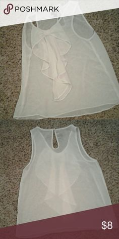 White Front Bow Tank-Blouse The sweetest blouse with a bow in the front, very see through so needs a tank under, but I love to wear this with a jacket or business under a cardigan. Negotiable. Tops Blouses