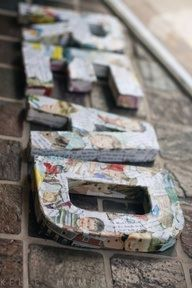 Collage letters
